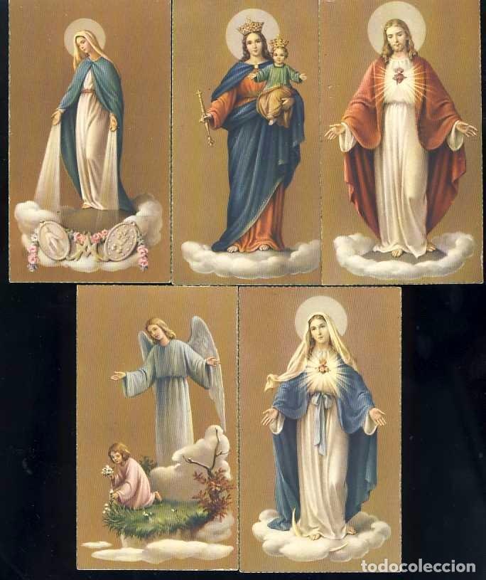 LOTE DE 5 ESTAMPAS RELIGIOSAS. ESTAMPA (Postales - Postales Temáticas - Religiosas y Recordatorios)