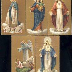 Postales: LOTE DE 5 ESTAMPAS RELIGIOSAS. ESTAMPA. Lote 85138184