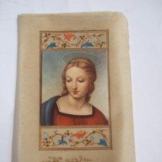 Postales: ESTAMPA VIRGEN - ESCRITA AL DORSO - PAPEL VEGETAL. Lote 85189324
