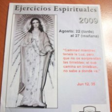 Postales: ESTAMPA EJERCICIOS ESPIRITUALES. 2009. MATER CHRISTI, VIDA CONSAGRADA . Lote 85275196