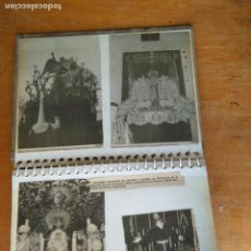Postales: ANTIGUO ALBUM DE COLECCIONISTA ., RECORTES DE PRENSA SEMANA SANTA SAN FERNANDO CADIZ VIRGEN CRISTO . Lote 85720000