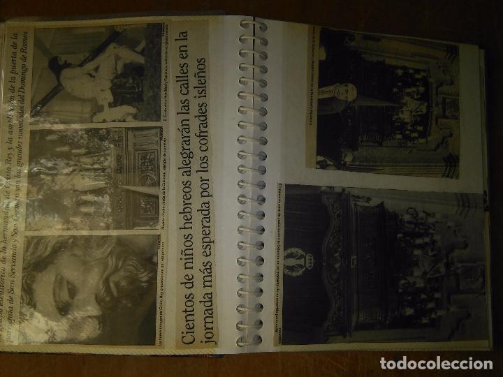 Postales: ANTIGUO ALBUM DE COLECCIONISTA ., RECORTES DE PRENSA SEMANA SANTA SAN FERNANDO CADIZ VIRGEN CRISTO - Foto 2 - 85720000