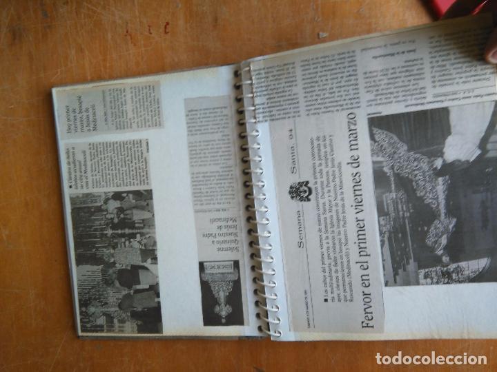 Postales: ANTIGUO ALBUM DE COLECCIONISTA ., RECORTES DE PRENSA SEMANA SANTA SAN FERNANDO CADIZ VIRGEN CRISTO - Foto 4 - 85720000