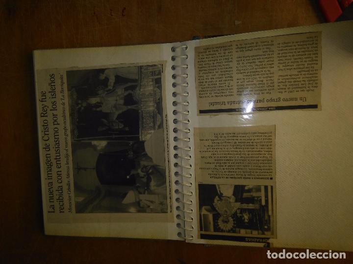 Postales: ANTIGUO ALBUM DE COLECCIONISTA ., RECORTES DE PRENSA SEMANA SANTA SAN FERNANDO CADIZ VIRGEN CRISTO - Foto 5 - 85720000