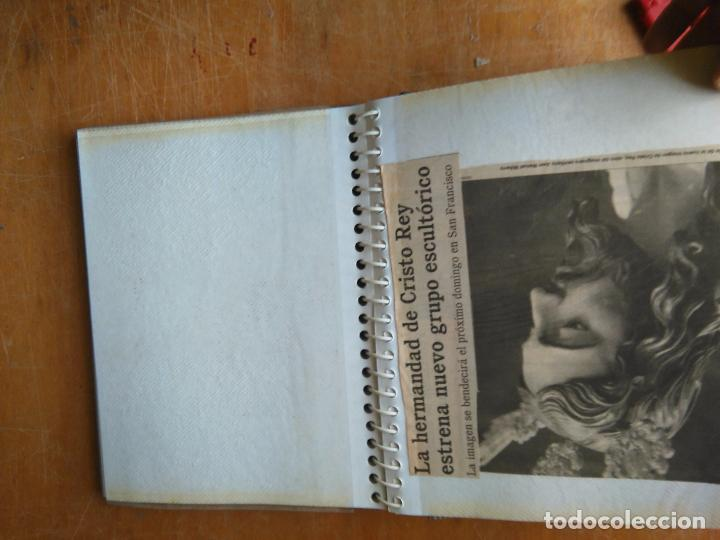 Postales: ANTIGUO ALBUM DE COLECCIONISTA ., RECORTES DE PRENSA SEMANA SANTA SAN FERNANDO CADIZ VIRGEN CRISTO - Foto 8 - 85720000