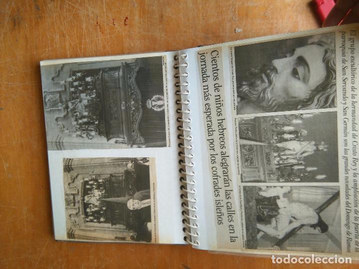 Postales: ANTIGUO ALBUM DE COLECCIONISTA ., RECORTES DE PRENSA SEMANA SANTA SAN FERNANDO CADIZ VIRGEN CRISTO - Foto 9 - 85720000