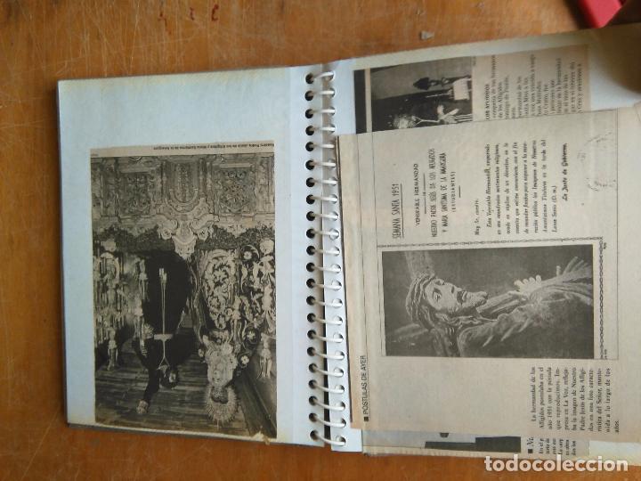 Postales: ANTIGUO ALBUM DE COLECCIONISTA ., RECORTES DE PRENSA SEMANA SANTA SAN FERNANDO CADIZ VIRGEN CRISTO - Foto 11 - 85720000