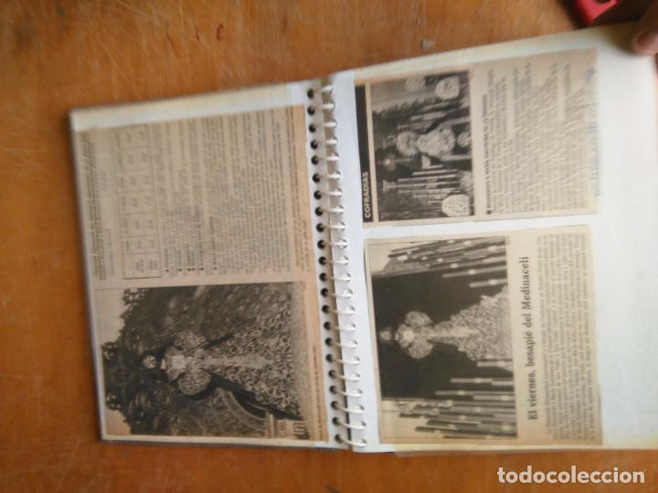 Postales: ANTIGUO ALBUM DE COLECCIONISTA ., RECORTES DE PRENSA SEMANA SANTA SAN FERNANDO CADIZ VIRGEN CRISTO - Foto 14 - 85720000