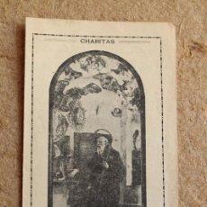 Postales: ETAMPITA RELIGIOSA. TRIDUO AL PATRIARCA SAN FRANCISCO DE PAULA. CHARITAS. . Lote 86011796