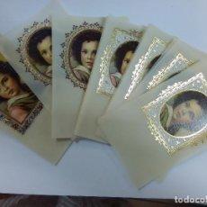 Postales: ESTAMPITAS VINTAGE NIÑO JESUS EN BLANCO. Lote 86333612