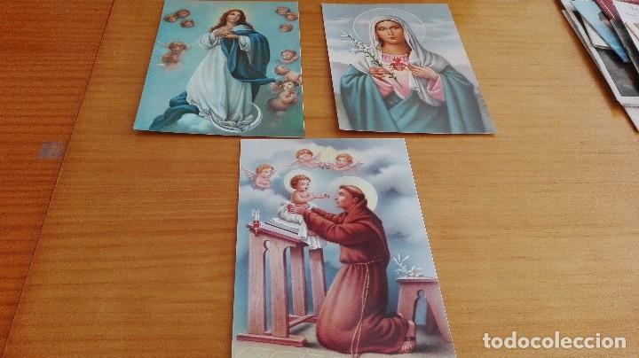 LOTE ESTAMPAS RELIGIOSAS (Postales - Postales Temáticas - Religiosas y Recordatorios)