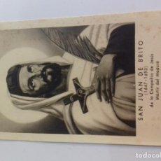 Postales: SAN JUAN DE BRITO DE LA COMPAÑIA DE JESUS--ESTAMPA RELIGOSA. Lote 86644780