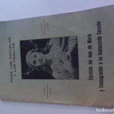 Postales: EJERCICIO MES DE MARIA CONSAGRACION D SU INMACULADA CONCEPCION-CRUZADA CORDIMARIANA ESCOLAR-ZARAGOZA. Lote 86659244