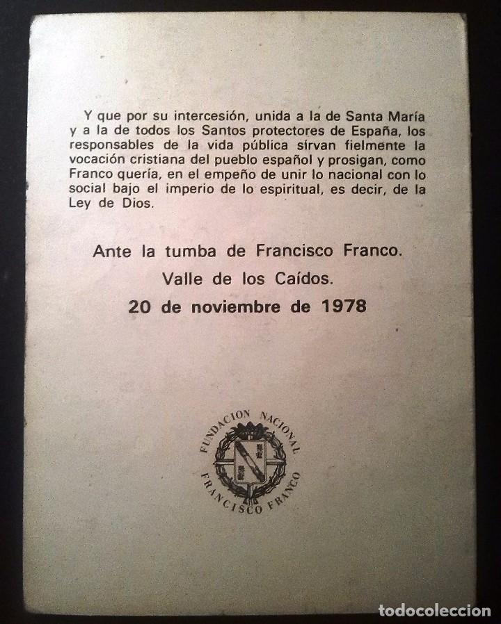 Postales: RECORDATORIO III ANIV.MUERTE DE FRANCO (1978) - Foto 2 - 87219952