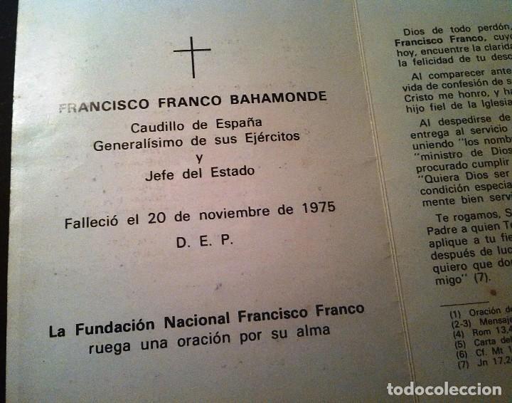 Postales: RECORDATORIO III ANIV.MUERTE DE FRANCO (1978) - Foto 3 - 87219952