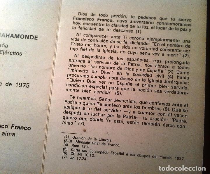 Postales: RECORDATORIO III ANIV.MUERTE DE FRANCO (1978) - Foto 4 - 87219952