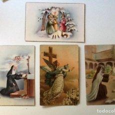 Postales: 4 POSTALES RELIGIOSAS AÑOS 50. CIRCULADAS . Lote 87413900