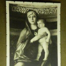 Postales: POSTAL RELIGIOSA - VENECIA - MADONNA DEL BELLINI - Nº 34 - NO ESCRITA NI CIRCULADA. Lote 87718076