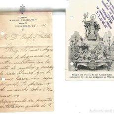 Postales: CARTA Y POSTAL. SAN PASCUAL BAILÓN. VILLARREAL. 29 DE MAYO DE 1931. Lote 88885508