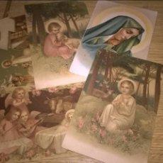 Postales: 5 POSTALES RELIGIOSAS ANTIGUAS. Lote 89365320