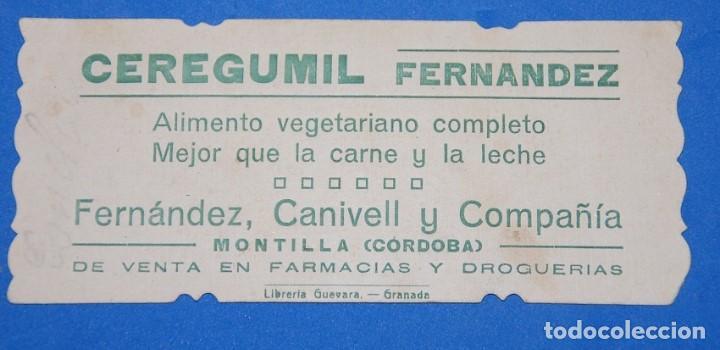 Postales: ESTAMPA SAGRADO CORAZON DE MARIA AÑOS 20 CON PUBLICIDAD CEREGUMIL - Foto 2 - 91302880