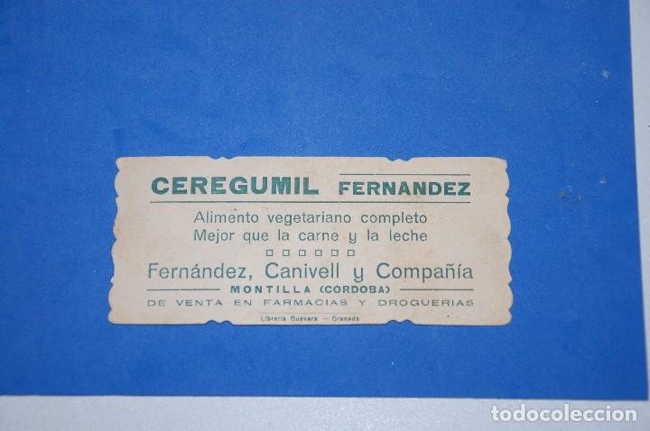 Postales: ESTAMPA VIRGEN CON NIÑO AÑOS 20 CON PUBLICIDAD CEREGUMIL - Foto 2 - 91302995