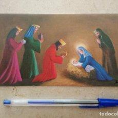 Postales: ANTIGUA ESTAMPA DOBLE - TARJETA NAVIDAD EPIFANIA - RELIGION - AÑO 1979 . Lote 92766690