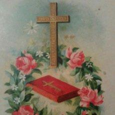 Postales: ANTIGUO CROMO RELIGIOSO CRUZ. Lote 92908195