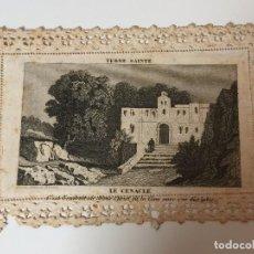 Postales: ESTAMPA CALADA DE LA TIERRA SANTA (SIGLO XIX). Lote 93034295