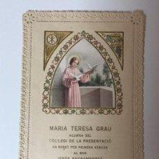 Postales: ESTAMPA RELIGIOSA CALADA (MAYO 1950) . Lote 93035855