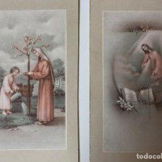 Postales: LOTE DE 2 ESTAMPAS RELIGIOSAS . Lote 93038595