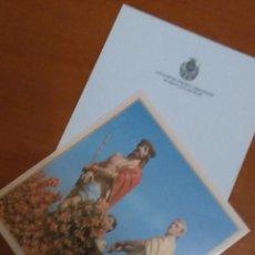 Postales: ESTAMPA SEMANA SANTA DE HELLIN , MURCIA - CRISTO COFRADIA DEL ECCE HOMO. Lote 93297935