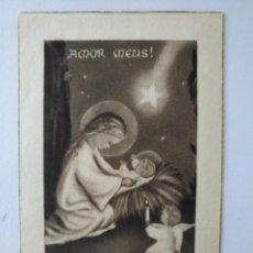 Postales: EV 20 ANTIGUA ESTAMPA VIRGEN CON EL NIÑO JESÚS .AMOR MEUS! 1956. Lote 93624950