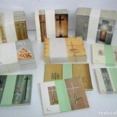 Postales: 6 KG GRAN LOTE RECORDATORIOS FUNERARIOS , MAS DE 2000 , NUEVOS SIN IMPRIMIR - TANATORIO. Lote 93873850
