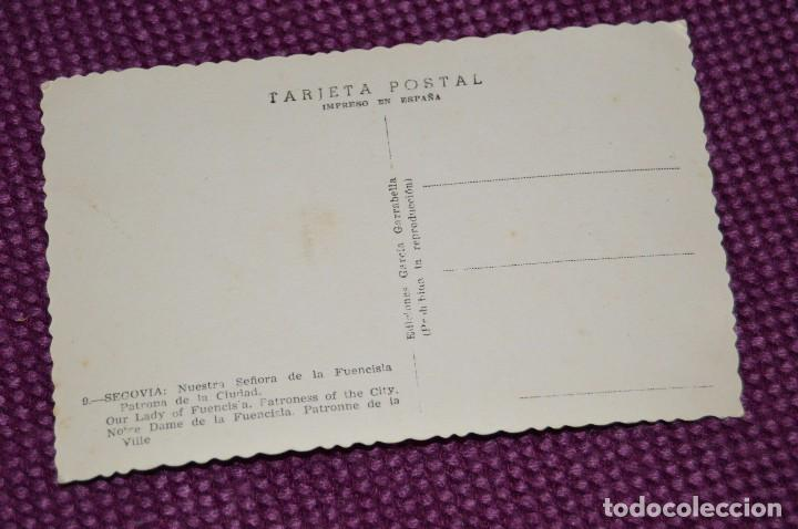 Postales: ANTIGUA POSTAL SIN CIRCULAR DE NUESTRA SEÑORA DE FUENCISLA, PATRONA CIUDAD DE SEGOVIA - MUY ANTIGUA - Foto 3 - 94179165