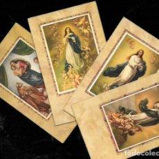 Postales: 4 RECORDATORIOS COMUNIÓN. Lote 94860383