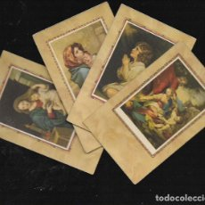 Postales: 4 RECORDATORIOS COMUNIÓN. Lote 94860419