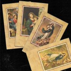 Postales: 4 RECORDATORIOS COMUNIÓN. Lote 94860495