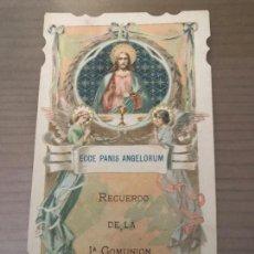 Postales: ANTIGUO RECORDATORIO COMUNIÓN SEVILLA 1918 ECCE PANIS ANGELORUM. Lote 95110787
