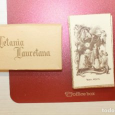 Postales: LETANIA LAURETANA, CAJA CON 61 ESTAMPAS RELIGIOSAS. Lote 95699979
