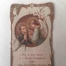 Postales: ANTIGUO RECORDATORIO DE COMUNIÓN 1909. Lote 96301422