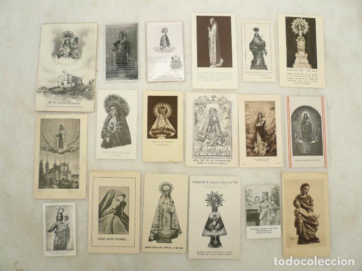 ESTAMPA. LOTE DE 18 ESTAMPAS MARIANAS .ANTIGUAS Y MODERNAS (Postales - Postales Temáticas - Religiosas y Recordatorios)