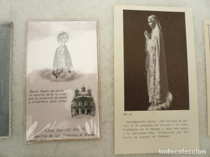 Postales: ESTAMPA. LOTE DE 18 ESTAMPAS MARIANAS .ANTIGUAS Y MODERNAS - Foto 3 - 96631915
