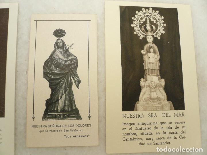 Postales: ESTAMPA. LOTE DE 18 ESTAMPAS MARIANAS .ANTIGUAS Y MODERNAS - Foto 4 - 96631915