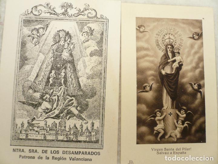Postales: ESTAMPA. LOTE DE 18 ESTAMPAS MARIANAS .ANTIGUAS Y MODERNAS - Foto 7 - 96631915
