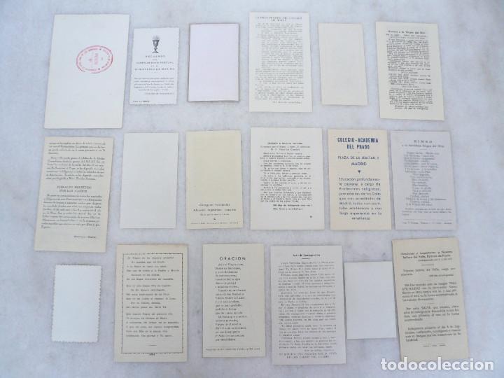 Postales: ESTAMPA. LOTE DE 18 ESTAMPAS MARIANAS .ANTIGUAS Y MODERNAS - Foto 12 - 96631915