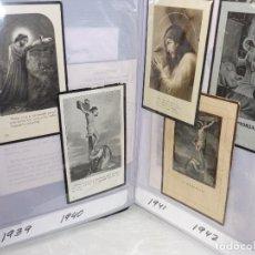 Postales: ALBUM CON *140 RECORDATORIOS DEFUNCION*, DESDE 1936 A 1967. Lote 96953623