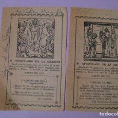 Postales: 2 ESTAMPAS RELIGIOSA. 1953.. Lote 97738727
