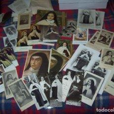 Postales: IMPRESIONANTE LOTE DE ESTAMPAS,POSTALES,FOTOGRAFÍAS Y RELIQUIA DE SANTA TERESA DE JESÚS. UNA JOYA!!!. Lote 97744723