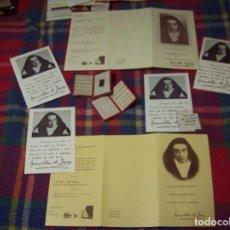 Postales: MAGNÍFICO LOTE DE RELIQUIAS, ESTAMPAS-TRÍPTICOS DE N. MADRE MARAVILLAS DE JESÚS. UNA JOYA!!!!!!. Lote 214102635